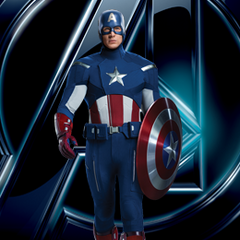 The Captain America uniform from <i>The Avengers</i>.