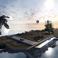 The Helicarrier as in appears in the <i>Iron Man 2</i> video game.