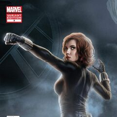Black Widow Avengers prequel comic #3 cover.
