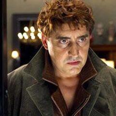 Octavius staring at the tritium in Harry's vault.