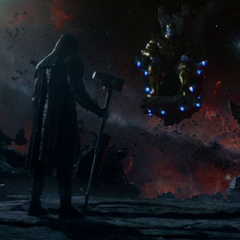 The meeting between Thanos and Ronan ends.
