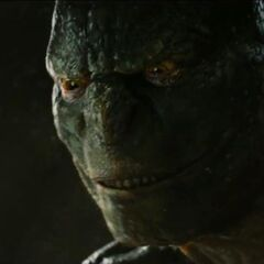 The Lizard talking to Spider-Man.
