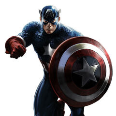 Captain America promotional art.