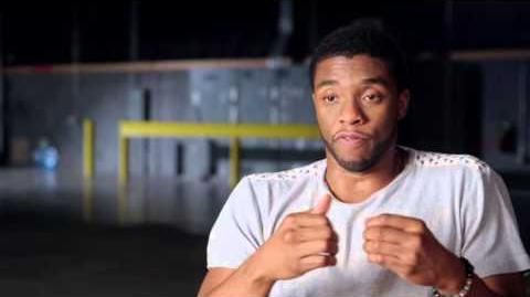 "Captain America Civil War Chadwick Boseman ""T'Challa"" Behind the Scenes Interview"