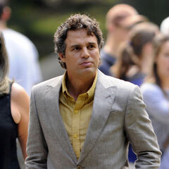 Mark Ruffalo on set as Bruce Banner.