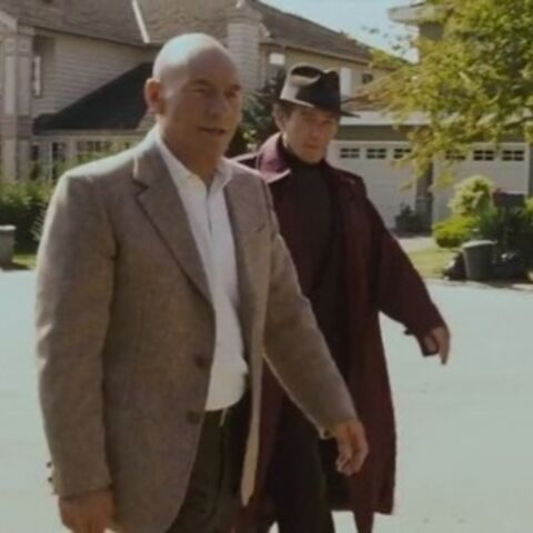 Charles and Magneto walking