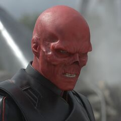 The Red Skull at a destroyed HYDRA base.