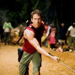 Wade attacks villagers.