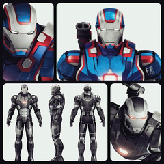Iron Patriot and War Machine promo art.