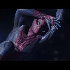 Spider-Man about to get shot.