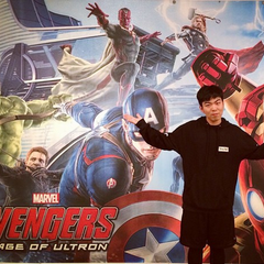 Promo Art of The Vision, Hulk, Hawkeye, Captain America, Thor, Iron Man, and Black Widow