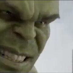 Hulk smiling.