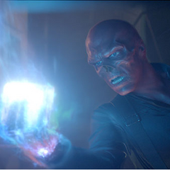 Red Skull with the Tesseract.