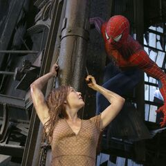 Spider-Man rescues Mary Jane.