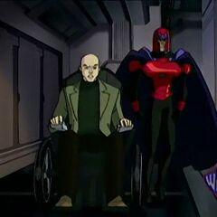 Xavier and Magneto prepare to defend against Apocalypse.