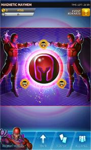 Magnetic Mayhem Event Screen