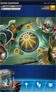 Divine Champions Event Screen