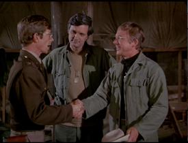 MASH episode-3x22 Hawkeye and Mulcahy meet Capt. Sloan