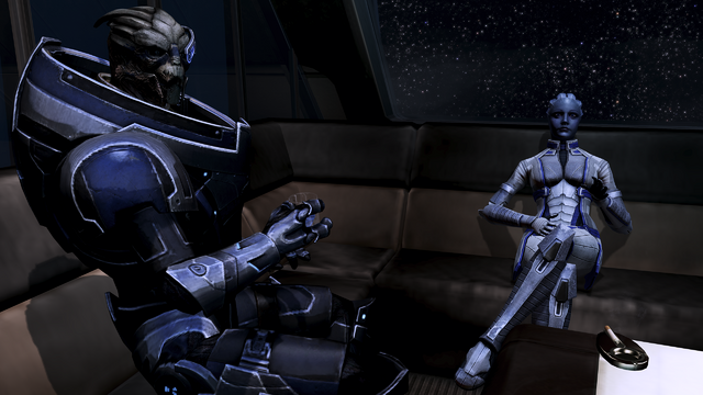 File:Normandy - garrus and liara in the lounge.png