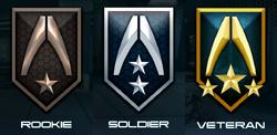Mass Effect Infiltrator Ranking medals