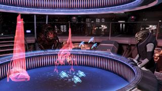 Wrex y Victus piensan en un plan de batalla para el Velo con la ayuda de Shepard
