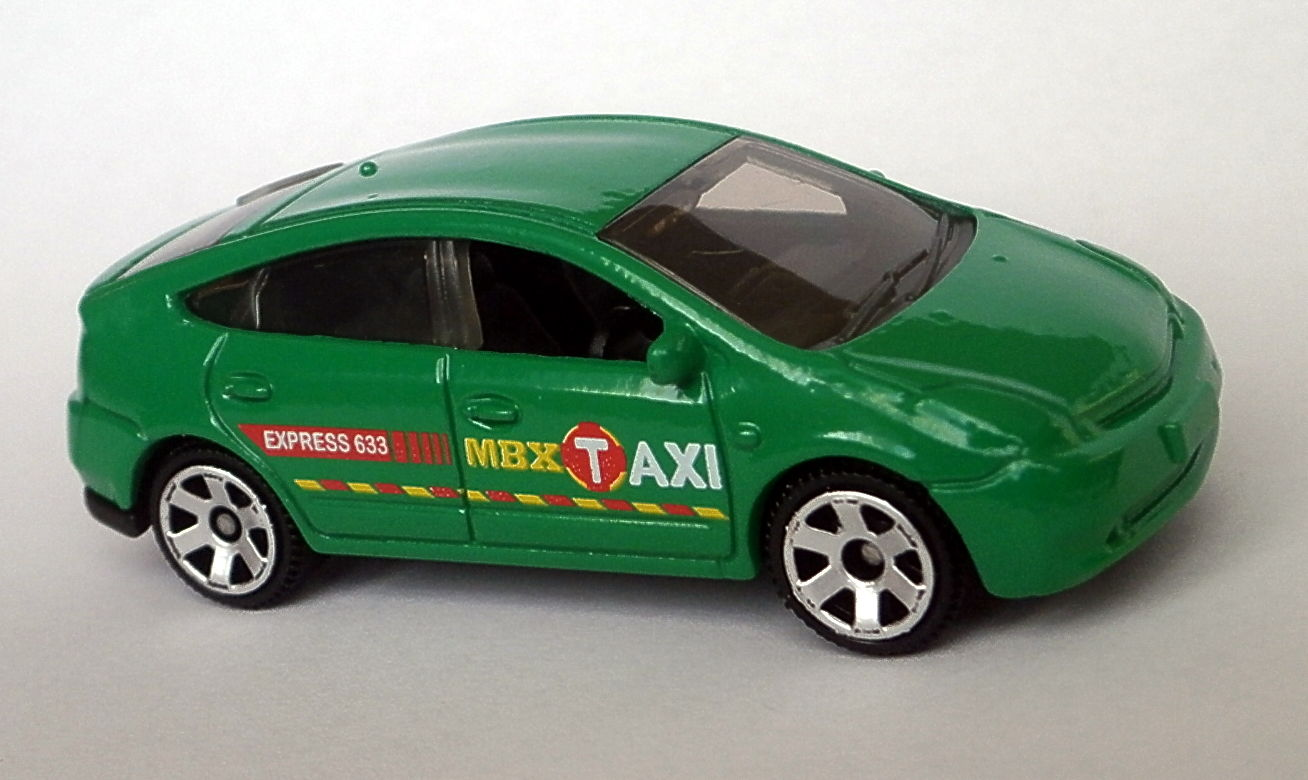 Image Toyota Prius Taxi 2016 Green Jpg Matchbox Cars