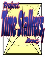 Project Time Stalkers,Inc.logo patch hour glass clockalternate
