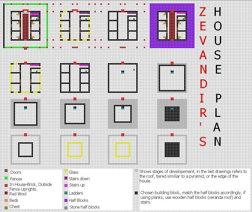 Bigger house complex ish minecraft constuctions wiki for Minecraft base blueprints