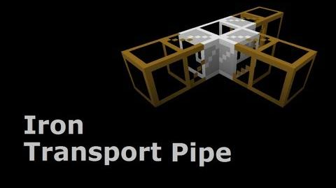Iron Transport Pipe - Buildcraft In Less Than 90 Seconds