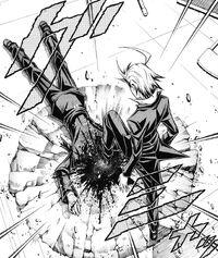 Chougasaki crushes Kumagawa's head