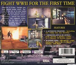 Medal of Honor Original Back Cover