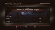 Winter's Harvest Menu Screen