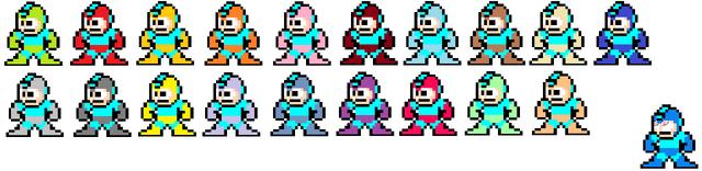 File:Pixel Blast, Megaman VS The other Megamans.png