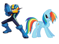 FANMADE Rainbow Dash and Megaman.png