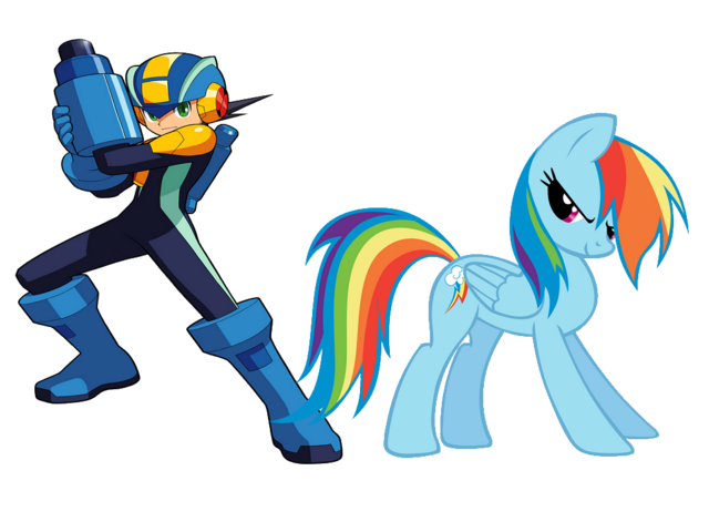 File:FANMADE Rainbow Dash and Megaman.png