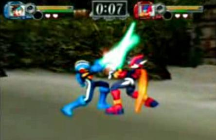 File:Zero and Megaman.exe in Onimusha Blade warriors.jpg