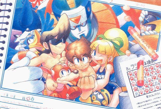 File:Mega Man friends.jpg