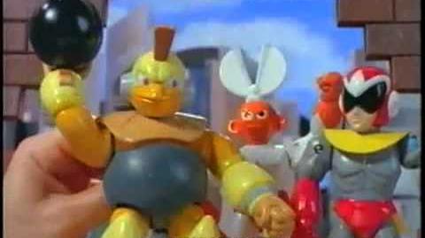 Mega Man cartoon action figures by Bandai (1994)