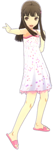 File:P4D Nanako Doijima Summer Vacation Clothes (Limited Edition Included - DLC) change.png
