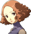 P5 portrait of Haru Okumura's summer attire