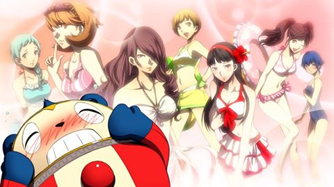File:P4AU (P4, Teddie daydream of his female friends wearing Junes swimsuits).jpg