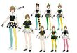 P4D Official Visual Visual Book Original Stage Costume for Chie, 02