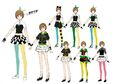 P4D Official Visual Visual Book Original Stage Costume for Chie, 02.jpg