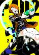 P4U2 advertisement illustration of Yosuke and Teddie by Rokuro Saito