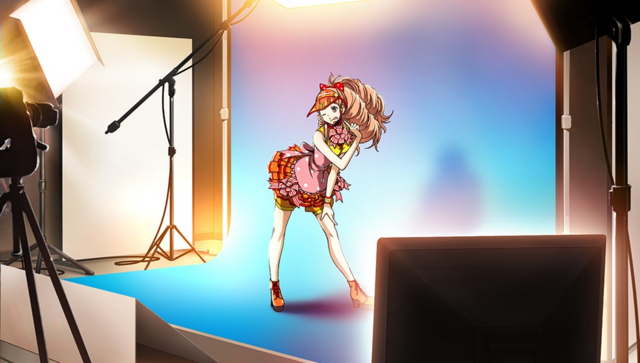 File:P4D story mode Kanami rehearsing.png