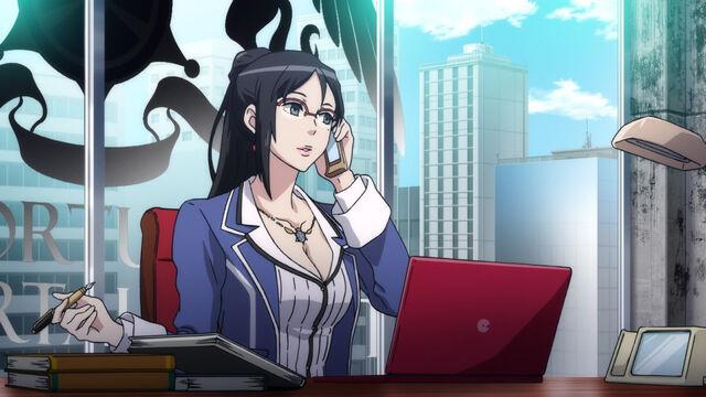 File:Maiko Shimazaki in SMT x FE anime cutscene.jpg