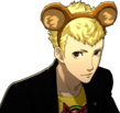 P5 portrait of Ryuji with bear ears