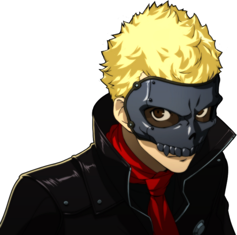 File:P5 portrait of Ryuji's phantom thief outfit.png