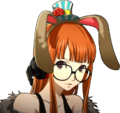 P5 portrait of Futaba Sakura with rabbit ears.png