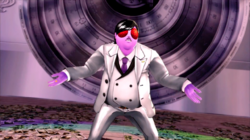 P5 Fly Guy wearing a suit